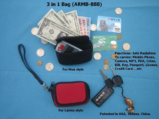 EMF 3-in-1 Mobile Phone Bags and Purse
